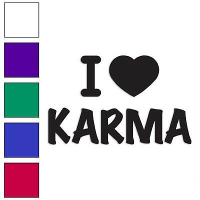 I Love Karma Heart Decal Sticker Choose Pattern Size #3425