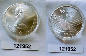 5 Dollar Silber Münze Canada Kanada Olympiade Montreal Olymp Dorf