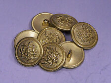8pc 15mm Spanish Inspired Rampant Lion Gold Metal Military Blazer Button 2150
