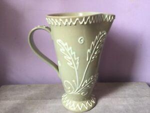 Vintage-DENBY-Stoneware-GLYN-COLLEDGE-Tubelined-CELADON-GLAZE-Display-JUG-50-s