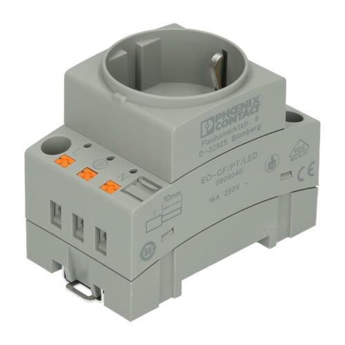 Schaltschranksteckdose PHOENIX 0804040 EO-CF//PT//LED Stecker-Typ C//F