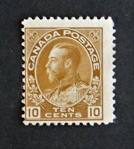 CANADA #118 - 1925 10 Cent Bistre Brown KING GEORGE V - Fine Unused NG