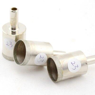 """3Pcs 23mm 7//8/"""" Lapidary Diamond Drill Bit Hole Cutter Saw Super-Thin 0.55mm Rim"""