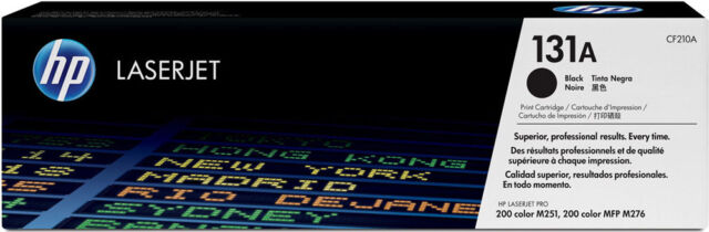 HP Original OEM Black Toner Cartridge - 131A - CF210A - 1600 Pages