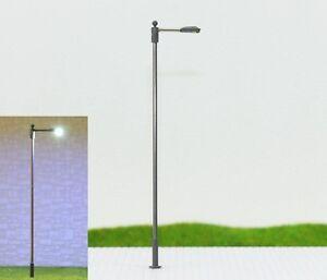 S200 - 10 Stück Peitschenleuch<wbr/>ten mit LED 1-flammig Höhe variabel 6 - 10cm Set