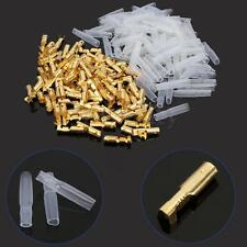 100 Set 3.5mm Female Brass Bullet Connector Terminal + Insulation Cover GTC