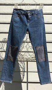 Wash ~ Boyfriend Mih Jeans Patch 27 knæ Tomboy Størrelse Skinny xgvgwfYz