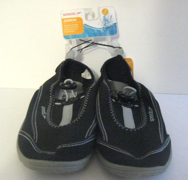 c327b30e2550 Speedo Water Shoes Junior Size Small 13 1 S Boys Girls Unisex Black Grey  Gray