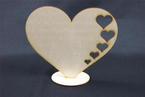 W9-10x-Standing-Plain-Wood-Wooden-Heart-Embelishments-Craft-Shapes