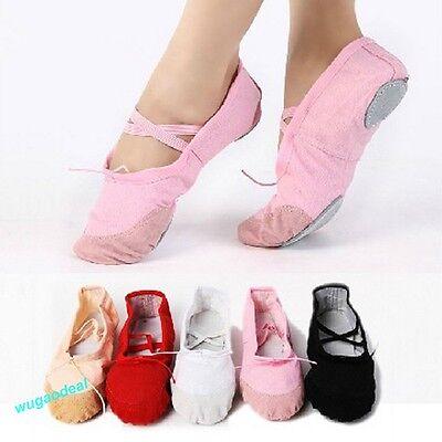 Lady's Comfortable Canva Ballet Dance Shoes Suitable For Children,Teenage,Adult