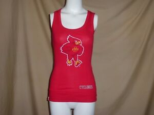 f6be71225ae416 IOWA STATE CYCLONES Ladies Racerback TANK TOP Womens Small NWT red ...