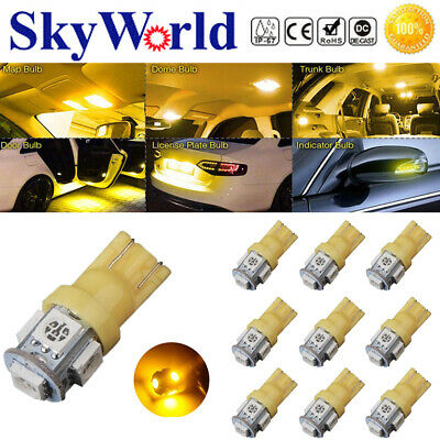 10x T10 Led Canbus Error Free 168 194 W5W 5 SMD Car Side Wedge White light Bulb