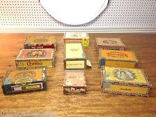 9 Vintage Wood Cigar Boxes Monte Cruz ~ Crem-o ~ Little Cuestas~ La Aurora