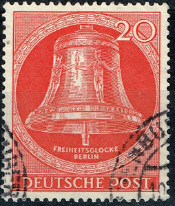 Germany Berlin Famous Freedom Bell stamp 1953