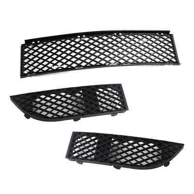 FOR BMW 7 SERIES E65//66 05-08 FRONT BUMPER LOWER RIGHT PART MESH GRILLE BLACK
