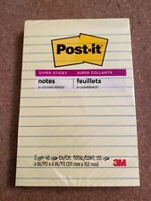 New Ruled Post It Notes Yellow 3 Tabs 45 Each 1 135 3m Yellow