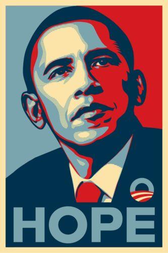 Barack Obama Hope Art Wall Indoor Room Outdoor Poster POSTER 24x36