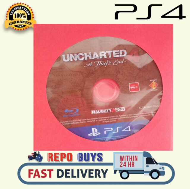 ps4 Uncharted 4 A Thief's End for PlayStation 4 PS4 Uncharted: Disc Only