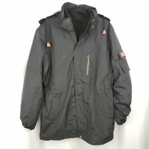 Outdoor-Hooded-2-in-1-BLACK-Windbreaker-Fleece-Jacket-NWOT-UNISEX