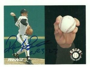 Randy Tomlin 1992 Pinnacle Baseball Grips signed auto autographed card Pirates