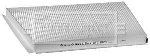 Borg-amp-Beck-Interior-Cabina-Polen-de-Filtro-de-aire-BFC1024-Original-5-Ano-De-Garantia