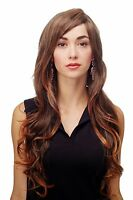 Wig Black-brown-mix Curles Wavy Long Side Part 70 Cm 9204s-2t114