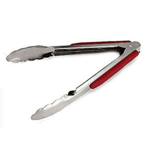 14-Inch-Stainless-Steel-Red-BBQ-Tongs-Kitchen-Cook-Tool-Convenient-Practical-N7
