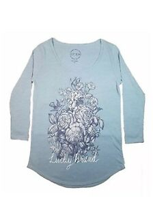 LUCKY-BRAND-NEW-3-4-Sleeve-Graphic-Tee-Womens-Top-Size-Medium-M