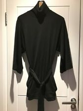 Theory Black Wool Turtleneck Kimono Sleeve Belted Wrap Sweater Jumper P XS Small