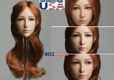 "1//6 Asian Female Head Sculpt For 12/"" TBLeague Phicen Figure SHIP FROM USA"