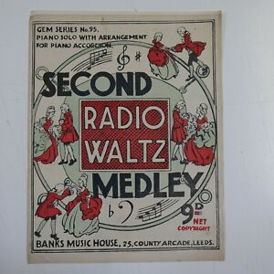 accordion / piano SECOND RADIO WALTZ MEDLEY gem series 95 | eBay
