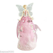 GISELA GRAHAM 18cm FAIRYLAND PINK ANGEL CHRISTMAS TREE TOPPER FAIRY DECORATION
