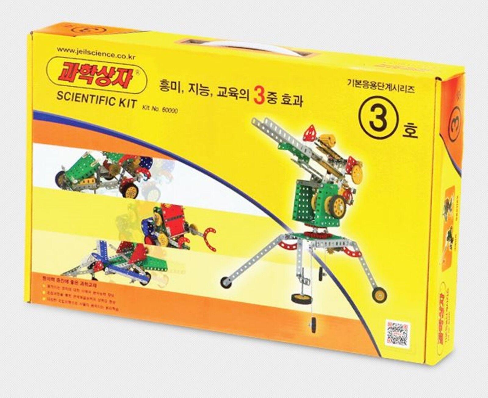 Korea Educational Scientific Model Kit  STEP 3  - Making 18 Types of Models