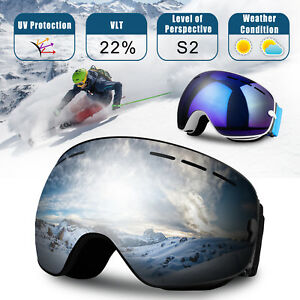 2226874ccce Men Women Anti-Fog UV Protection Over Glasses Ski Snowboard Goggles ...