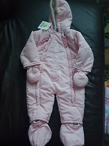 BNWT-3-6-Months-Pink-Snow-Suit