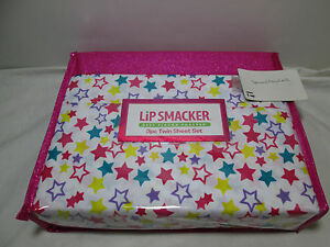Lip Smacker Best Flavor Forever STARS Twin Sheet Set ~ Red, Purple, Teal Yellow