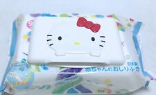 SANRIO HELLO KITTY KAWAII Only Wet Tissue Paste Lid Can be Use Repeatedly