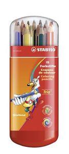 15-x-Stabilo-Swano-Trio-Ergonomic-Colouring-Pencils-In-Plastic-Case
