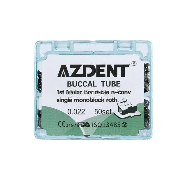 50sets Dental Ortho Non-Conv Buccal Tube 1st Molar Bondable Roth 022 Monoblock