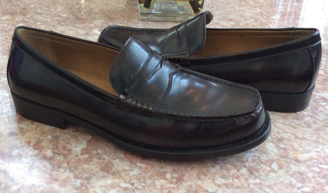 Dexter Men Penny Burgundy Leather Slip On Dress Business Loafer shoes Sz 11 EUC