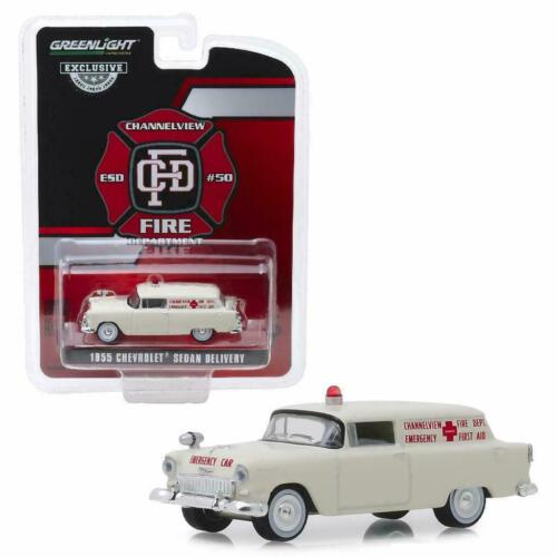 1955 Chevrolet Sedan Delivery Texas FIRE Dept Ambulance ** Greenlight 1:64 OVP