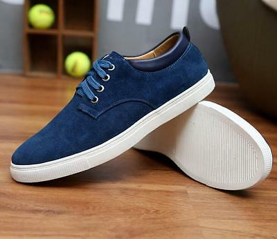 New Men's leather casual fashion sneakers lace casual shoes large size shoes