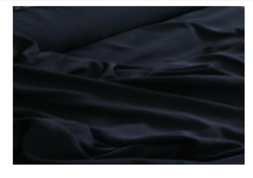 """61/"""" wide High quality Polyester crepe fabric in navy blue £4.99//m 1.55m"""