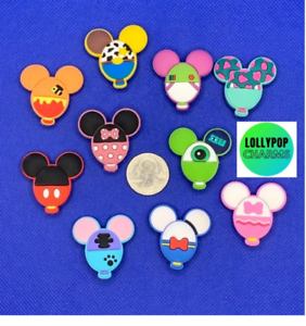 Disney balloon shoe charm set