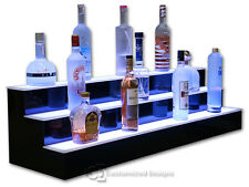 48 3 Step Tier Led Lighted Shelves Illuminated Liquor Bottle Display Free Ship