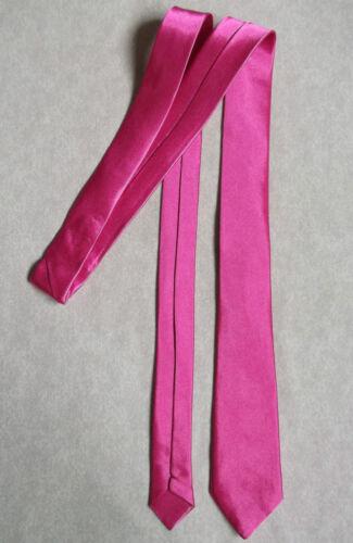 Homme Skinny Cravate Rose Chaud Soyeux Brillant Slim Bureau quotidiennes Mariage Fête