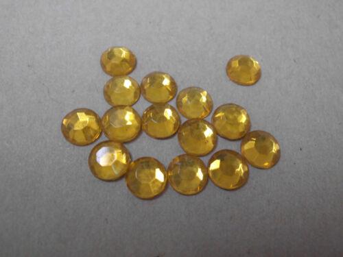 36 pierres de strass en verre ss30 topaze