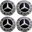 4-X-75mm-Mercedes-Benz-Alloy-Wheel-Centre-Caps-Black-Badges-AMG-A-B-C-E-S-Class thumbnail 1