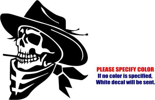 "Vinyl Decal Sticker Cowboy Skull Car Truck Bumper Window Laptop JDM Fun 6/"""