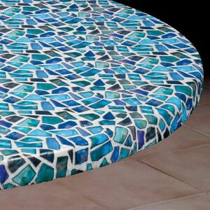 Exceptionnel Image Is Loading Round Elasticized Tablecloth Table Cover Sea Glass Vinyl
